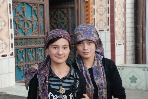 Uighur Girls, Xinjiang, China